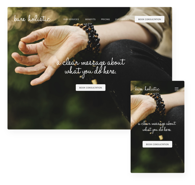 Health and wellbeing website design and build