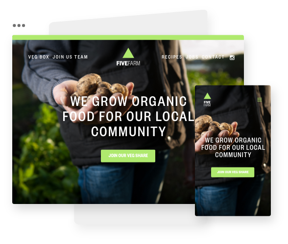 Website Design for CSA Farms and Organic Community Farms